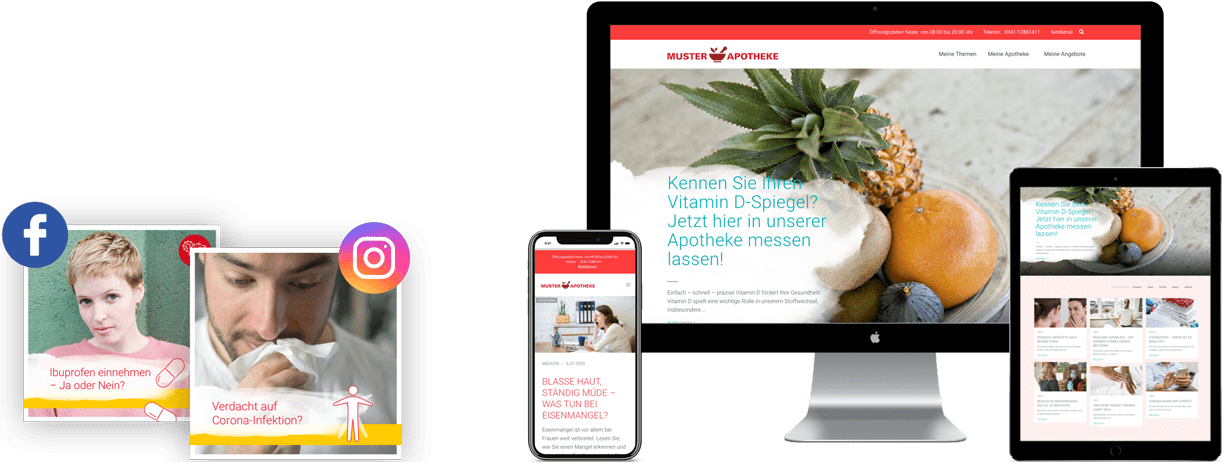 Apotheken - Social Media und Website