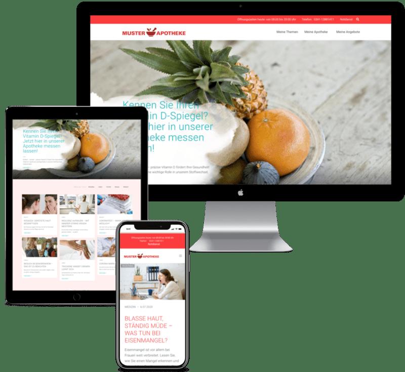 Ihre Apotheke - Website und Mobile