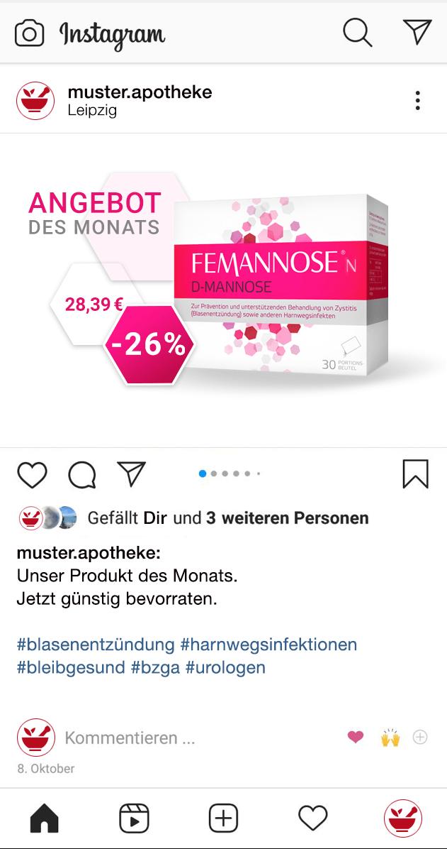 Apotheken – Instagram Post von Shop Produkten